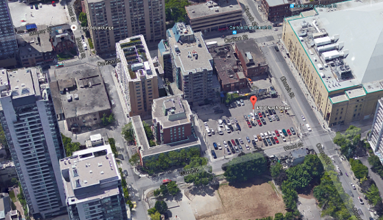 Axis Condos Current Google Map Aerial View